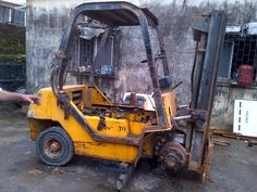 Fully Eroded Forklift from a Chemical Compnay