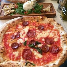 A sourdough pizza at Franco Manca //Where: There are several locations, including Chiswick, Tottenham Court Road, Balham, Southfields, and the original Brixton venue. Cost: Pizzas start at £4.50