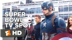 Captain America: Civil War Official Super Bowl TV Spot (2016) - Chris Ev...