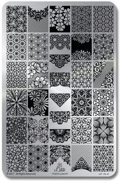 I Foil in Love 01 - Lina Stamping Plate for Nail Stamping and Nail Art Nail Stamping nail stamping foil Nail Stamping Plates, Foil Stamping, Nail Plate, Halloween Nail Designs, Halloween Nails, Doodle Patterns, Zentangle Patterns, Zentangles, Diy Nail Decorations