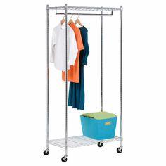 Honey-Can-Do Chrome Urban Deluxe Garment Rack  Costco.ca  $98
