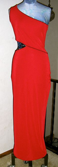 NWT red cache cutout formal gown one by ChloeandNatalieVtg on Etsy, $89.00