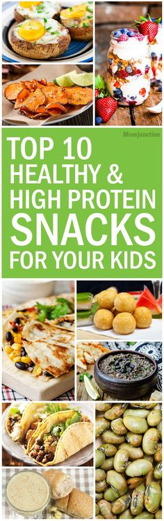 Check out some protein snacks for kids you can simply make. These protein rich foods increase body's production of hunger fighting hormones, thereby staving off hunger.