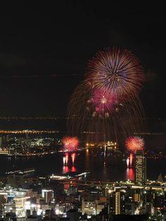 Kobe with fireworks