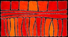 Aboriginal Artwork by Sally Clark. Sold through Coolabah Art on eBay. Cataogue ID 13243