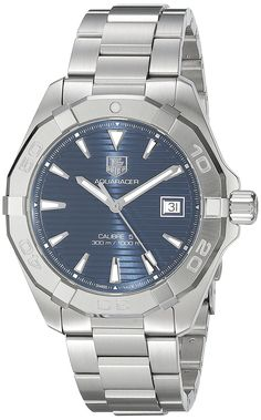 TAG Heuer Men's 'Aquaracer' Swiss Automatic Stainless Steel Dress Watch, Color: Silver-Tone (Model: WAY2112.BA0928) >>> Want additional info? Click on the image.