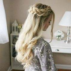 Half Up Crown Braid  This is quickly becoming my new favorite hairstyle + there's an older tutorial linked in my bio! Maybe I'll make a newer one for this style too  #missysueblog