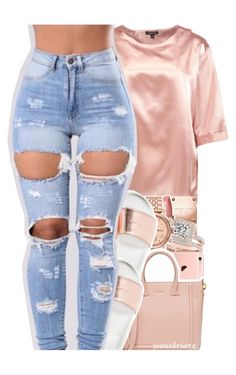 """""""1006   rose gold."""" by yeauxbriana ❤ liked on Polyvore featuring Boohoo, Michael Kors, Charlotte Tilbury, Allurez and FOSSIL"""