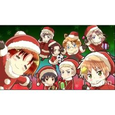 hetalia christmas wallpaper by steph972 ❤ liked on Polyvore featuring home, home decor, wallpaper, xmas wallpaper, christmas wallpaper and christmas home decor