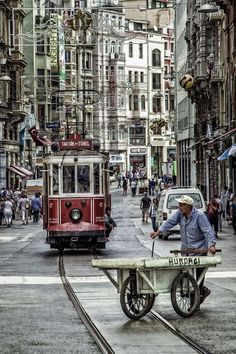 Istiklal Cadesi - a walk in Istiklal street in Istanbul  / TURKEY