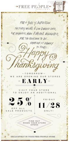 Free People : Thanksgiving