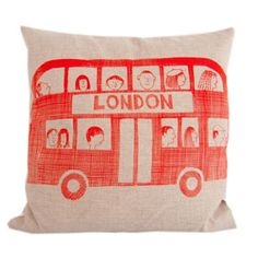 Jane Foster London Bus Cushion £30 Sisters Guild