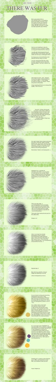 You, too, can draw painstakingly detailed fur in under twelve hours! :D I kid, I kid If you make something with this tut as a guide, show me! 2012 edit: I was thirteen when I wrote this, please exc...