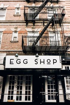 Local city guide—New York City. Egg Shop: Lower East Side. (What we love: A menu full of egg-cellent options).