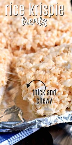 Original Rice Krispie Treats recipe with all the tips and tricks for making them thick and chewy! Kids and adults LOVE this top rated recipe! Rice Recipes For Dinner, Dessert Recipes, Popcorn Recipes, Fudge Recipes, Dessert Bars, Yummy Recipes, Rice Krispy Treats Recipe, Original Rice Krispies Recipe, Making Rice Crispy Treats