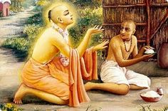 "At night, when no one would see him Raghunath Das would carefully go there and pick up the old decomposed rotten pieces of Jagannath's rice that the cows had rejected. He would take it home and carefully wash it. He would take the inner part, add salt and eat it. That is all he would eat... Only the Lord in His heart could see what kind of renunciation he was really performing. Lord Chaitanya said, ""Oh, Raghunath Das, I have heard you are eating very palatable prasad. Please give me some..."""