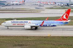 Turkish Airlines 200th aircraft TC-JYI (Mugla), a Boeing 737-900ER with a special color scheme