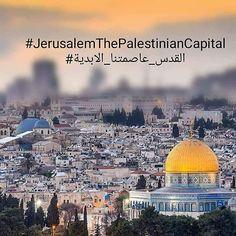 Jerusalem capital of Palestine Palestine History, Palestine Art, Budapest, Juma Mubarak, Dome Of The Rock, Peace On Earth, Holy Land, Islam Quran, Oppression