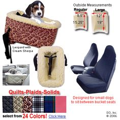 Snoozer Lookout Console Dog Car Seat at Dog-Car-Seats.com with FREE Shipping