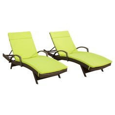 Christopher Knight Home Salem Set of 2 Brown Wicker Adjustable Chaise Lounge with Arms : Target