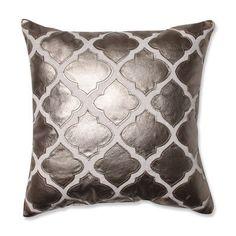 Pillow Perfect Flash Throw Pillow Color: Metal