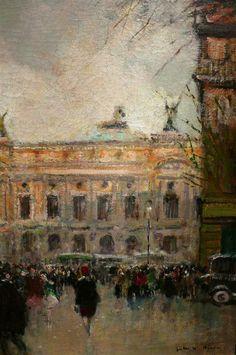 Jules-René Hervé  (1887-1981) The Opera of Paris in the evening .