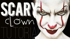 EASY & Scary Clown Face Paint Makeup Tutorial…