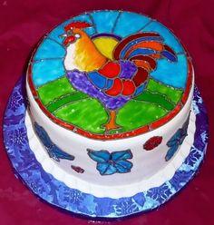 pinterest rooster birthday cake - Recherche Google