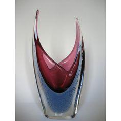 Glazen vaas met luchtbellen, Murano Sommerso