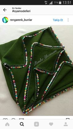 This post was discovered by Elif. Discover (and save!) your own Posts on Unirazi. Bead Crochet Rope, Crochet Shawl, Hand Embroidery, Embroidery Designs, Bridal Silk Saree, Sleeve Designs, Crotchet, Crochet Crafts, Diy And Crafts