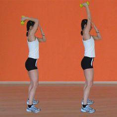 Estensione dei tricipiti Fitness in casa: gli esercizi per braccia e spalle - Rimettersi in forma | Donna Moderna