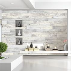 How To Create An Accent Wall Using White Washed Boards