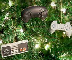 Bring a little nostalgia to your Christmas tree decorating this year with these retro controller tree ornaments. These festive ornaments are shaped just like controllers from all the classic gaming consoles we grew up on in the 80's, 90's and early 2000's.