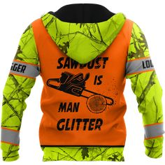 3D Chainsaw Logger Quotes Custom Name Unisex Shirts AM112047 - Zip hoodie / S