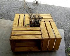 wood pallet fruit crates table