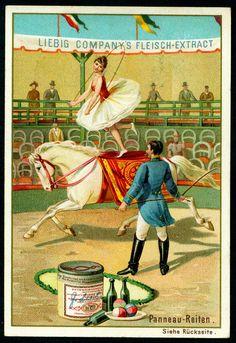 Liebig S295 - Equestrian Circus #4 | Liebig Beef Extract, German issue, 1891