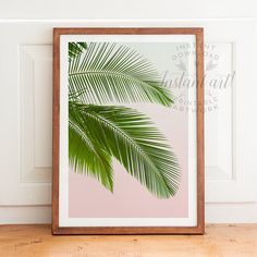 This high-resolution palm leaves tropical PRINTABLE art is available immediately after purchase as a JPG file in and Printable Designs, Printable Art, Printables, Leaf Prints, Wall Prints, Banana Leaf Shower Curtain, Home Staging, Art Tropical, Palm Tree Decorations
