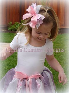 Rags to Riches Fabric Ribbon Waist Tutu & Hairbow for Parties & Photos