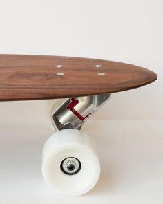 Wood Skateboard Longboard Deck Solid Walnut by theAtlanticOcean