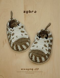 Ravelry: Zebra Baby Booties Crochet Pattern at Kittying.com pattern by Kittying Ying