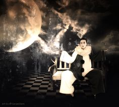 Model by [link] Background by [link] [link] [link] Moon by [link] See my other works: Pierrot the clown Pierrot, Carpe Diem, Deviantart, Concert, Model, Masquerades, Carnivals, Image, Clowns