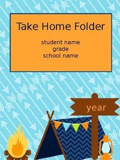 Editable Student Binder Covers- Camping/ Woodland Theme Kindergarten Classroom Decor, Classroom Decor Themes, Classroom Organization, Classroom Images, Classroom Ideas, Classroom Management, Student Binder Covers, Student Binders, Camping Theme