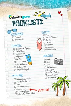 Sommerurlaub Packliste – So vergesst ihr nichts für euren Urlaub! Holiday checklist ✔️ With my packing list, you are guaranteed to forget anything when you pack your suitcase for the holidays! Summer Vacation Packing, Travel Packing, Travel Hacks, Amalfi, Holiday Checklist, Holiday Destinations, Holiday Travel, Holiday List, Holidays And Events