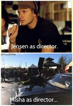 Jensen and Misha haha