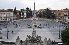 La Piazza del Popolo era la entrada norte a la ciudad de #Roma, ubicada junto a la Puerta Flaminia. http://www.viajararoma.com/lugares-para-visitar-en-roma/piazza-del-popolo/ #turismo #Italia
