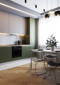Exceptional modern kitchen room are readily available on our internet site. Check it out and you wont be sorry you did. Industrial Style Kitchen, Modern Kitchen Design, Interior Design Living Room, Design Bedroom, Kitchen Contemporary, Vintage Industrial, Luxury Kitchens, Home Kitchens, Small Kitchens