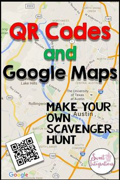 Create your own scavenger hunt for your classroom with QR Codes and Google Maps. You're students will love learning map skills with this activity.