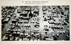 "A postcard of Covington during the 1937 flood from the KET documentary ""Where the River Bends: A History of Northern Kentucky."""