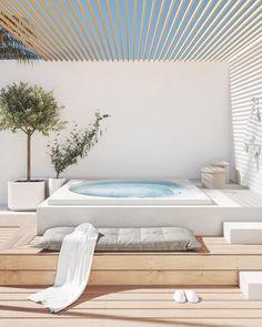 Exterior Design, Home Interior Design, Interior And Exterior, Outdoor Spaces, Outdoor Living, Spring Home, House Rooms, My Dream Home, Villa