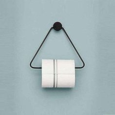 Foxi Modern Creative Toilet roll Holder Bathroom Triangle Toilet Paper roll Holders,Napkin Ring tissues Holder Restroom Toilet roll Holder-Black: Amazon.co.uk: DIY & Tools